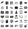 finance department icons set simple style vector image vector image
