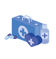first aid kit on white background vector image vector image