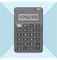 flat calculator on background object for design vector image