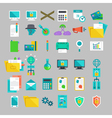 flat icons set with concepts of business office vector image