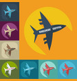 flat modern design with shadow icons aircraft vector image vector image