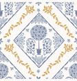 french blue shabchic mosaic background vector image vector image