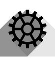 gear sign black icon with two flat gray vector image vector image