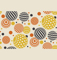 geometric circle seamless pattern vector image