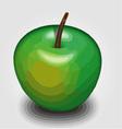 Green apple 3d rendering vector image
