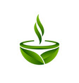 green tea symbol vector image