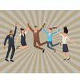 happy executive business workers vector image