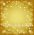 happy new year golden background vector image