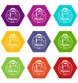 hipster style icons set 9 vector image