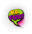 kapow comic book text pop art vector image