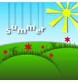 Landscape of paper Caricature Summer vector image