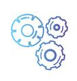 line gear industry engineering process vector image vector image