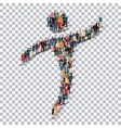 man symbol people 3d Transparency vector image