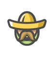 mexican man in sombrero cartoon vector image vector image