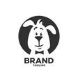 modern pet clever dog logo vector image vector image