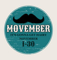 moustaches movember poster round or circle vector image vector image