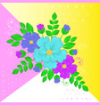 paper flowers and leaves on vector image vector image