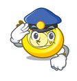 police cd player character cartoon vector image vector image