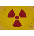 Radiation sign grunge background vector image