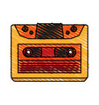 retro audio cassette tape vector image vector image