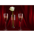 rose and champagne vector image vector image