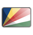 seychelles flag on white background vector image vector image