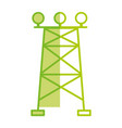 silhouette towel energy technology and industrial vector image vector image