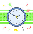 simple classic blue round wall clock vector image