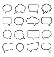 Speech bubbles for infographics vector image vector image