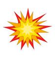 Starburst icon cartoon style