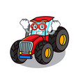 super hero tractor character cartoon style vector image vector image