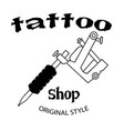 tattoo shop tattoo machine background image vector image