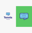 tennis-court-logo-icon vector image vector image