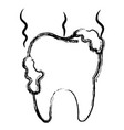 tooth dirty isolated icon vector image