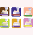 Toothbrush and toothpaste set vector image vector image