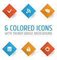 user icons set collection wifi db done and vector image vector image