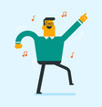 young cheerful caucasian man dancing vector image vector image