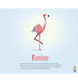 pink flamingo wild animal modern icon vector image