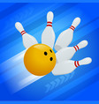 abstract background bowling pins and ball vector image