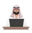 arab muslim businessman or programmer working with