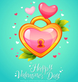 Romantic heart shaped lock with keyhole vector image