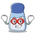 super hero salt character cartoon style vector image