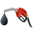 A gray and red colored fuel pump vector image