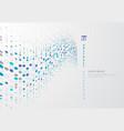 abstract blue circle border pattern wave vector image vector image