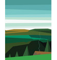 abstract polygonal green landscape vector image vector image