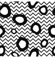 abstract seamless pattern dot and zig-zag line vector image