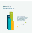 bar chart infographics elements 3d flat design vector image vector image
