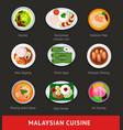 big set of malaysian food asian traditional vector image vector image