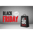 black friday mega sale banner template vector image vector image
