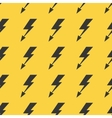 Black yellow lightnings seamless background vector image vector image